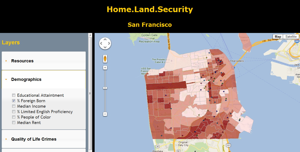 Home Land Security | Advanced GIS: Web GIS